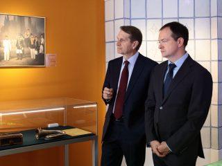 Владимир Мединский и Сергей Нарышкин посетили Музей военной формы